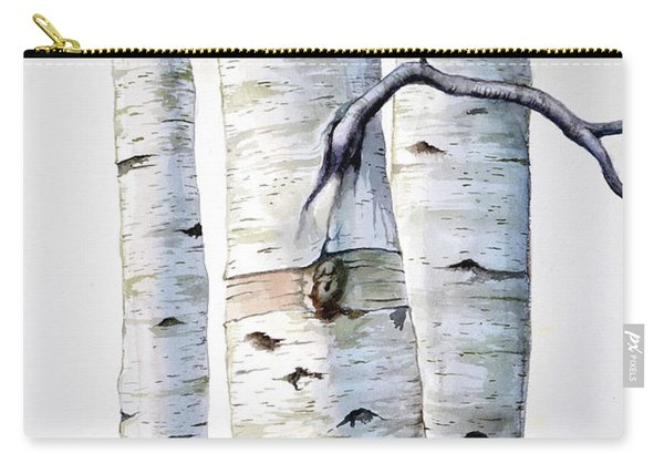 Birch Trees In Watercolor Carry-all Pouch