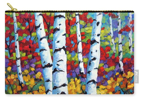 Birches In Abstract By Prankearts Carry-all Pouch