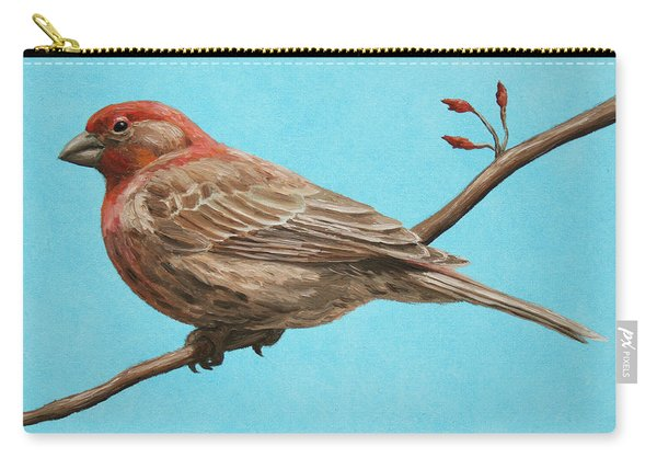 Bird Painting - House Finch Carry-all Pouch