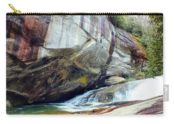 Birdrock Waterfall In Spring Carry-all Pouch