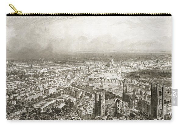 Birds Eye View Of London From Westminster Abbey Carry-all Pouch
