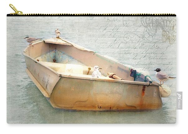 Birds On A Boat In The Basin Carry-all Pouch