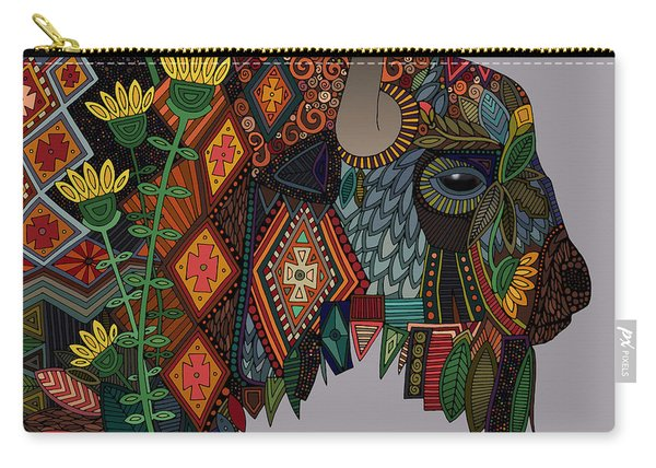 Bison Heather Carry-all Pouch