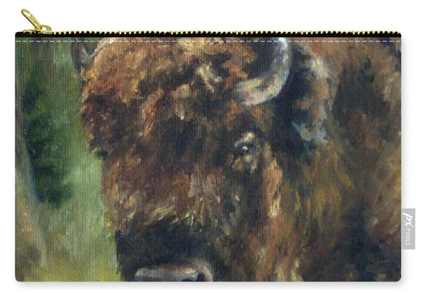 Bison Study - Zero Three Carry-all Pouch