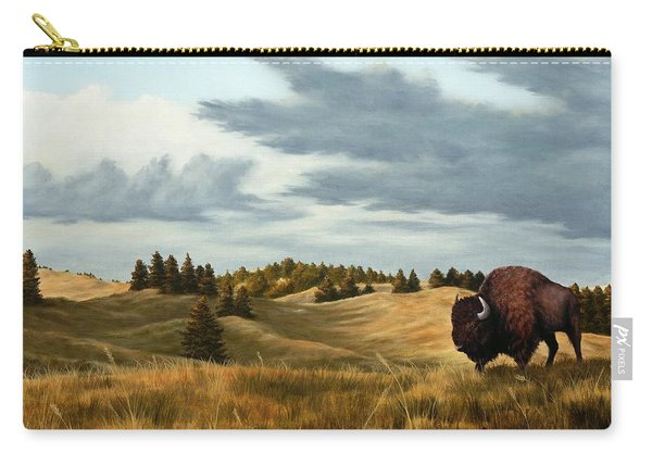 Bison  Wind Cave Park  South Dakota Carry-all Pouch