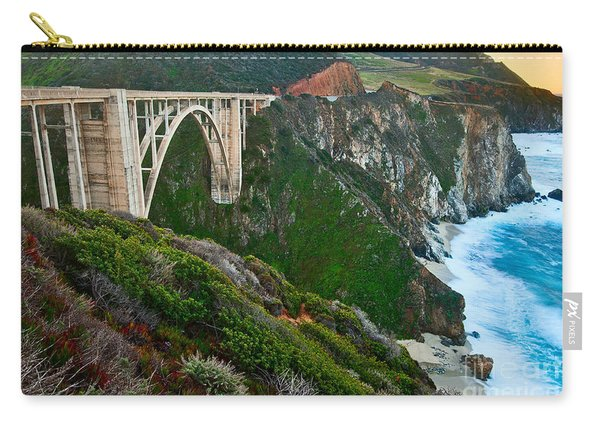 Bixby Sunrise - View Of Big Sur In California During Sunrise With Bixby Bridge. Carry-all Pouch