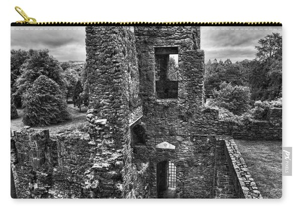 Black And White Castle Carry-all Pouch