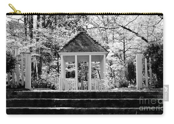 Black And White Gazebo Carry-all Pouch