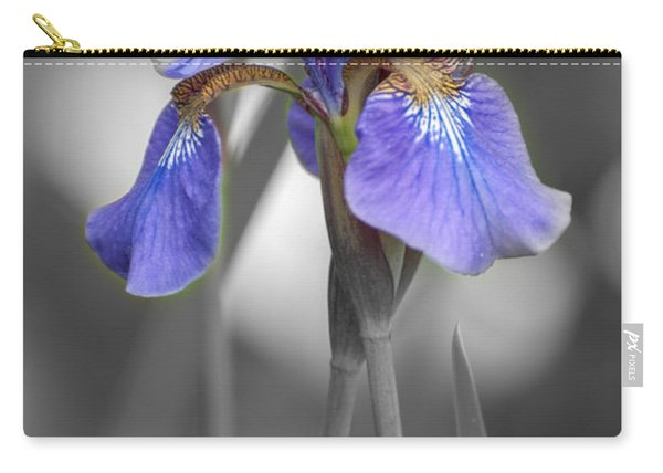 Black And White Purple Iris Carry-all Pouch