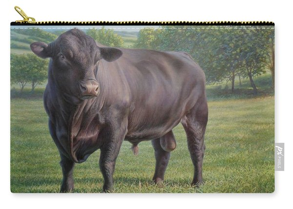 Black Angus Bull 2 Carry-all Pouch