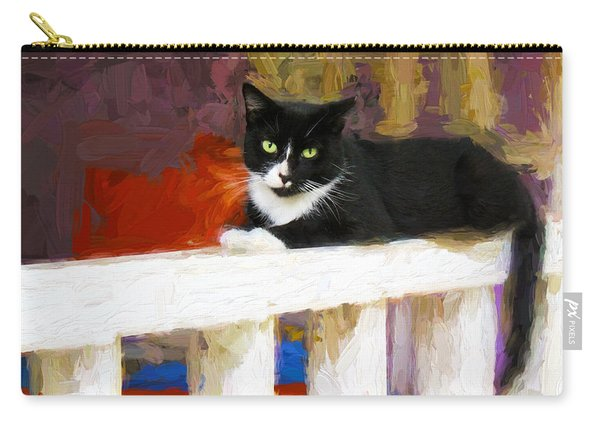 Black Cat In Color Series 2 Carry-all Pouch