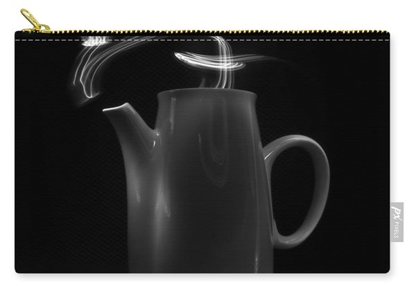Black Coffee Pot - Light Painting Carry-all Pouch