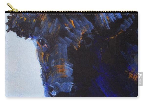Black Cow Head Carry-all Pouch
