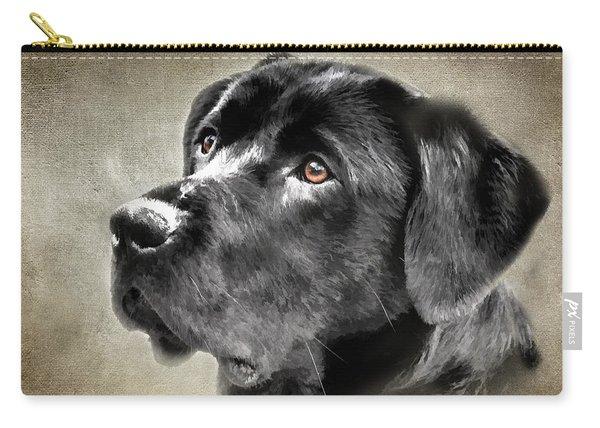 Black Lab Portrait Carry-all Pouch