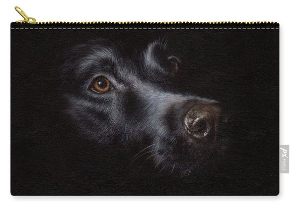 Black Labrador Painting Carry-all Pouch