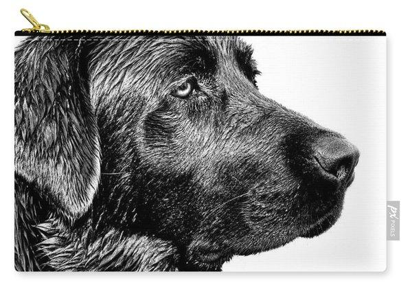 Black Labrador Retriever Dog Monochrome Carry-all Pouch