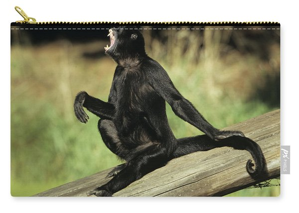 Black Spider Monkey Howling Carry-all Pouch