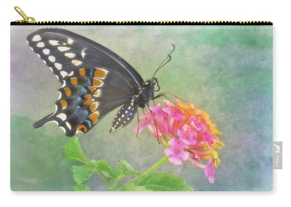 Black Swallowtail And Lantana Carry-all Pouch