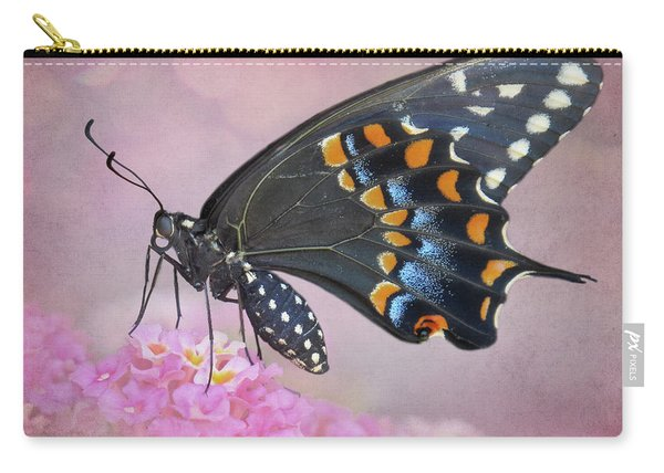 Black Swallowtail On Lantana Carry-all Pouch