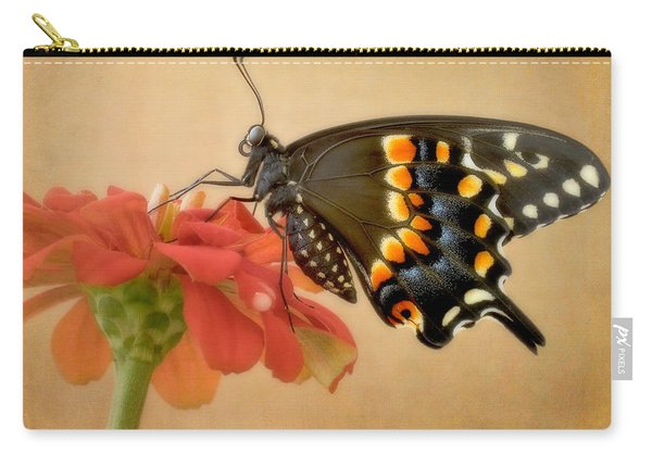 Black Swallowtail On Zinnia Carry-all Pouch