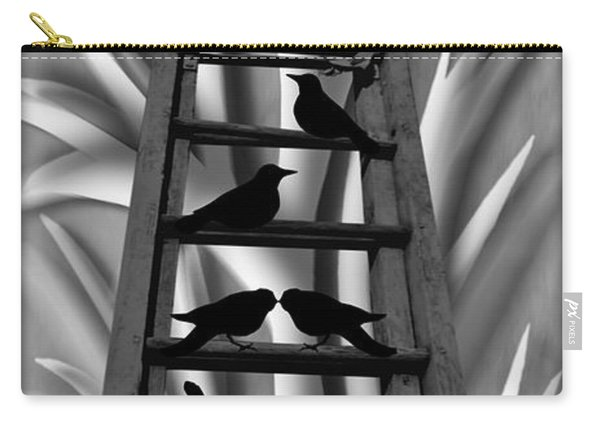 Carry-all Pouch featuring the mixed media Blackbird Ladder by Barbara St Jean