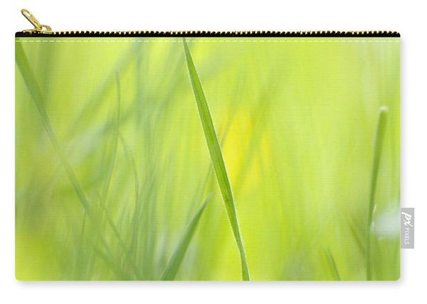 Blades Of Grass - Green Spring Meadow - Abstract Soft Blurred Carry-all Pouch