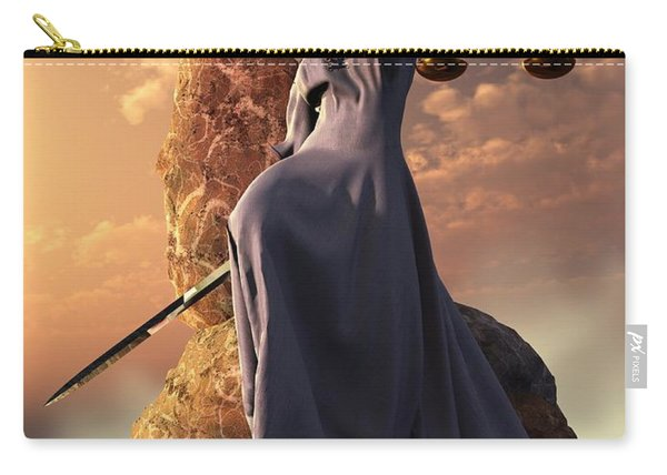 Blind Justice With Scales And Sword Carry-all Pouch