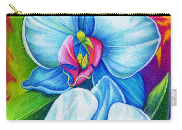 Carry-all Pouch featuring the painting Bliss by Nancy Cupp
