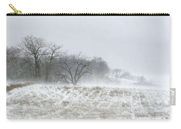 Blowing Snow Over Fields And Forest Carry-all Pouch