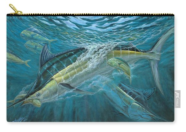 Blue And Mahi Mahi Underwater Carry-all Pouch