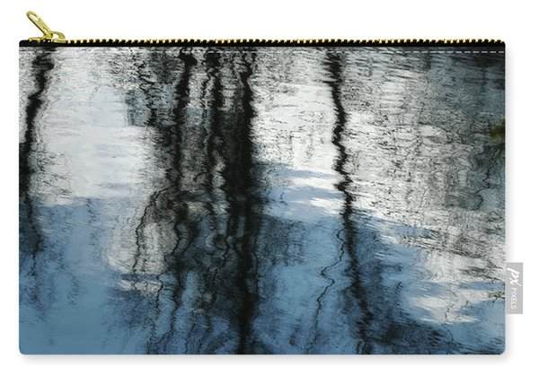 Blue And White Reflections Carry-all Pouch