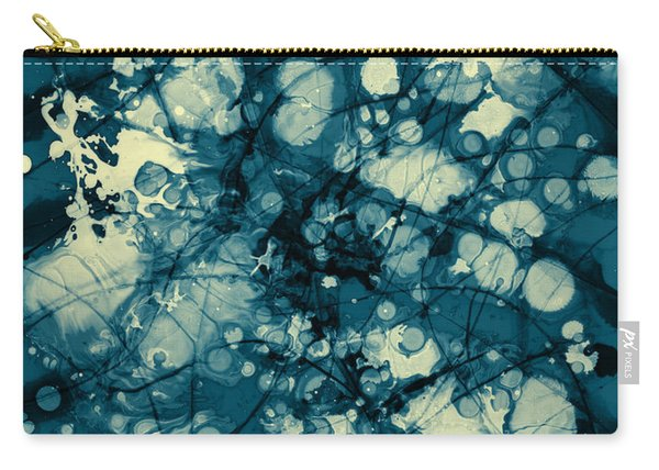 Blue And Yellow Abstraction Carry-all Pouch