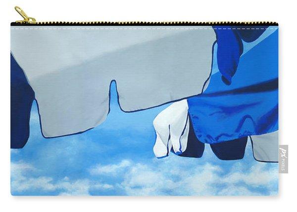 Blue Beach Umbrellas 2 Carry-all Pouch