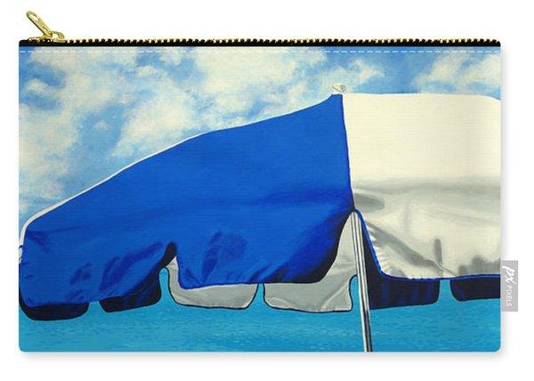 Blue Beach Umbrellas 1 Carry-all Pouch