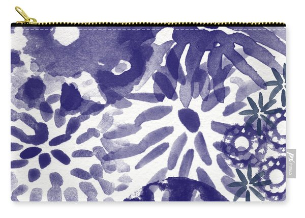 Blue Bouquet- Contemporary Abstract Floral Art Carry-all Pouch