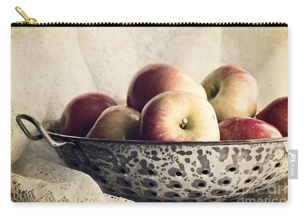 Blue Bowl Of Apples Carry-all Pouch