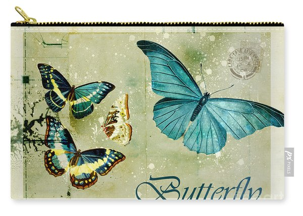 Blue Butterfly - S55c01 Carry-all Pouch