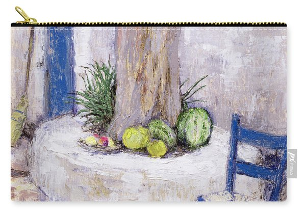 Blue Chair By The Tree Carry-all Pouch