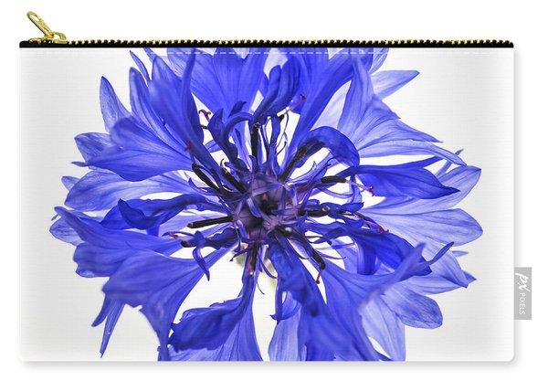 Blue Cornflower Flower Carry-all Pouch