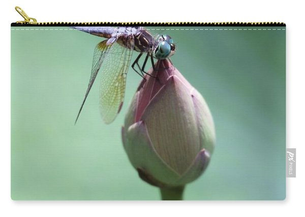 Blue Dragonflies Love Lotus Buds Carry-all Pouch