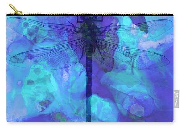 Blue Dragonfly By Sharon Cummings Carry-all Pouch