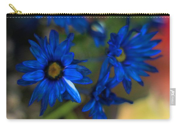 Blue Dyed Daisies  Carry-all Pouch