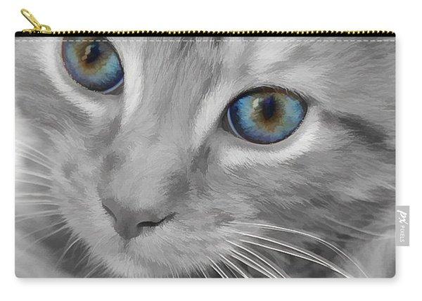 Blue Eyes Kitten Carry-all Pouch