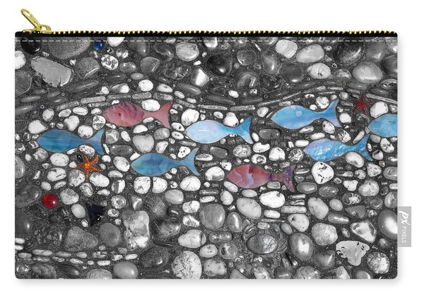 Blue Fish Pink Fish Carry-all Pouch