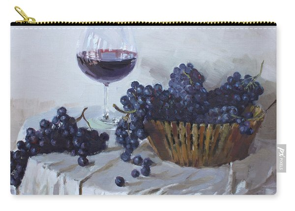 Blue Grapes And Wine Carry-all Pouch