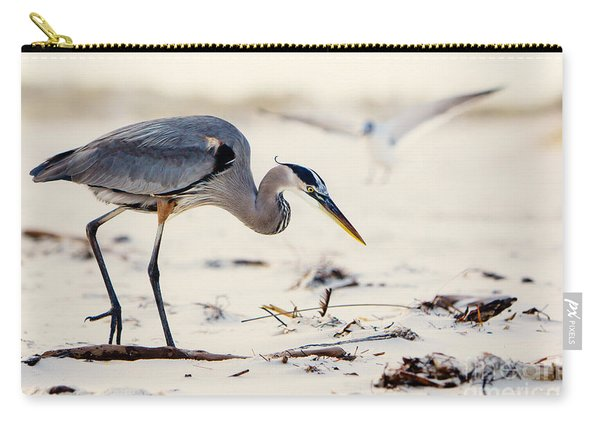 Blue Heron At The Beach Carry-all Pouch