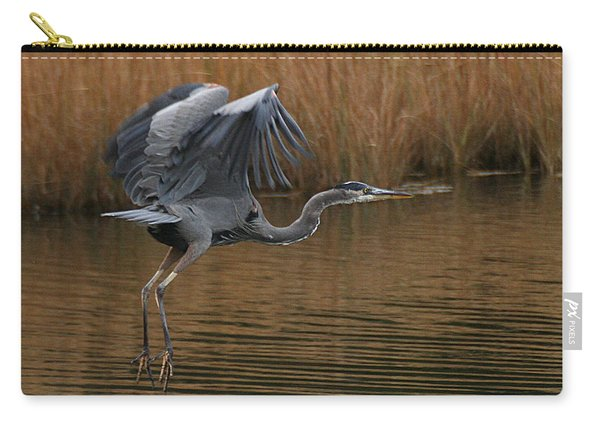 Blue Heron Takes Flight Carry-all Pouch