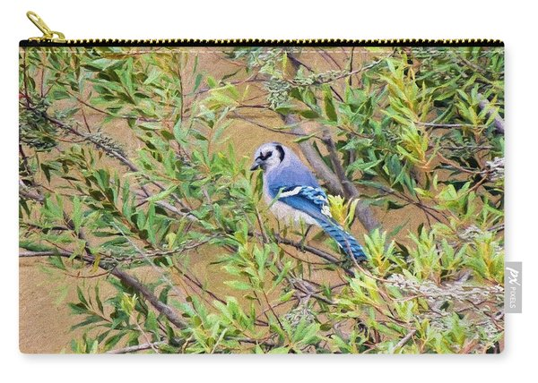 Blue Jay On Southern Wax Myrtle Carry-all Pouch