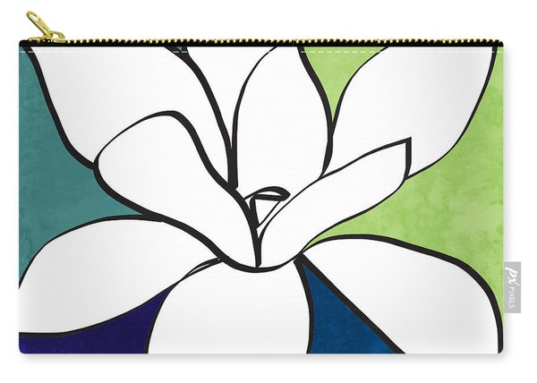 Blue Magnolia 1- Floral Art Carry-all Pouch
