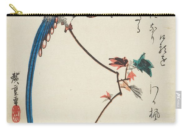 Blue Magpie On Maple Branch Carry-all Pouch